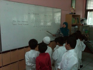 Learning with Islamic Teacher, Ms. Yayah