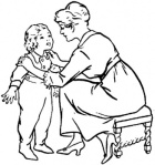 mother-is-talking-to-child-coloring-page